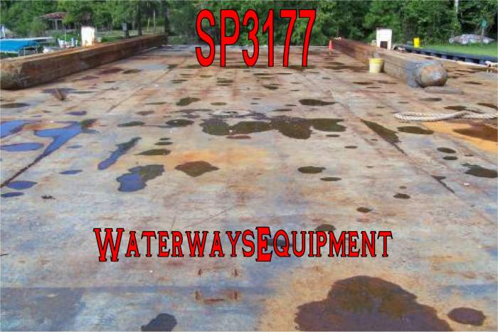 "SP3177 - 110' x 50' x 6'-6"" SPUD BARGE"