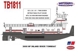 TB1811 - 2600 HP INLAND RIVER TOWBOAT