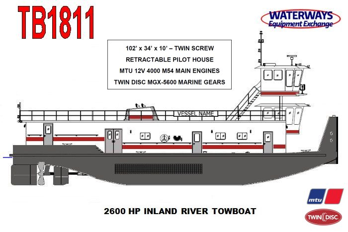 TB1811 - 2600 HP INLAND RIVER TOWBOAT