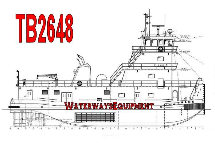 TB2648 - NEW 3000 HP PUSH BOAT