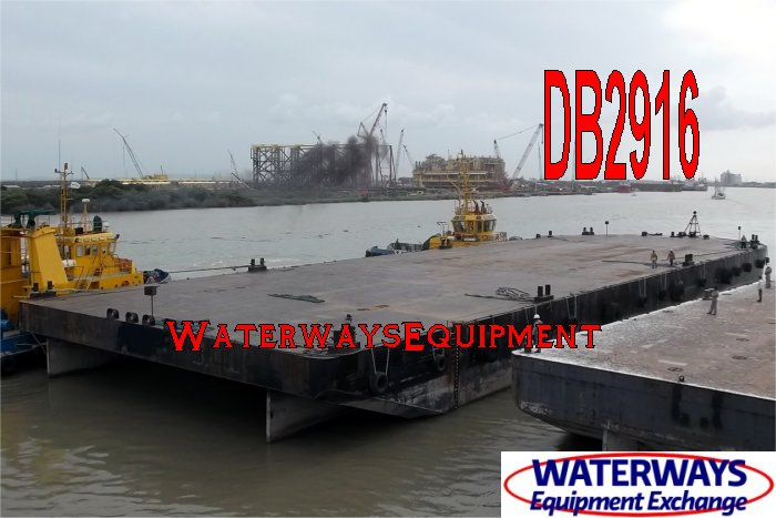 DB2916 - 300' x 90' x 18' ABS DECK BARGE FOR CHARTER