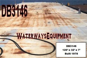 DB3146 - 120' x 32' x 7' DECK BARGE