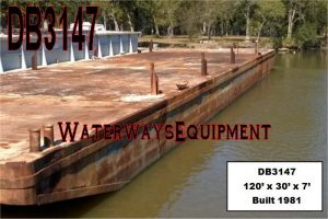 DB3147 - 120' x 30' x 7' DECK BARGE