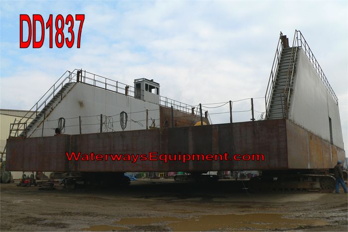 DD1837 - 120' x 60' x 7' NEW FLOATING DRY DOCK