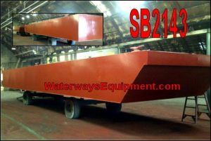 SB2143 – 48′ x 24′ x 4′ SECTIONAL SPUD BARGE