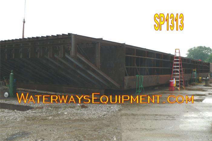 SP1313 - 130' x 50' x 8' NEW HD SPUD BARGE