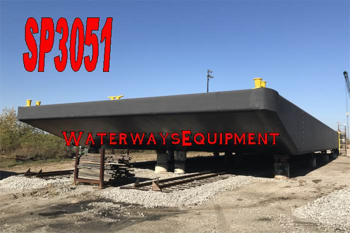 SP3051 - NEW 200' X 54' X 9' INLAND SPUD BARGE