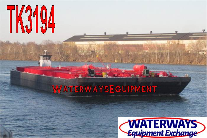 TK3194 - TWO 195' x 35' x 12' TANK BARGES