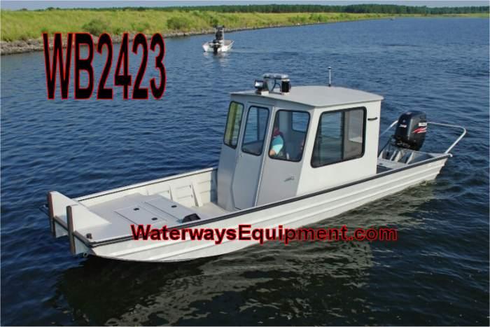 """WB2423 - 24' x 95"""" 230 HP ALUMINUM WORK BOAT"""