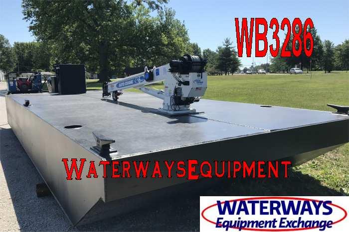 WB3286 - 90 HP WORK BOAT w/ AUTOCRANE