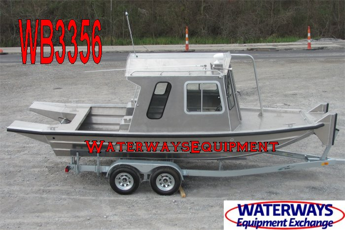 WB3356 - 22' x 6' CABIN WORK BOAT