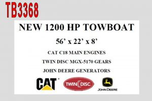 TB3368 - NEW 1200 HP PUSH BOAT
