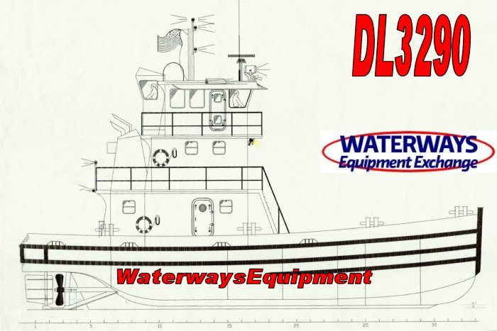 DL3290-B - 1200 HP DECK LUGGER TUG