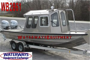 WB2861- 24' x 7' FRONT CABIN ALUMINUM WORK BOAT