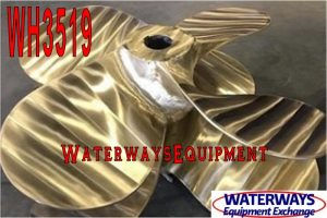 "WH3519 - PAIR OF 52"" X 38"" BRASS PROPELLERS"