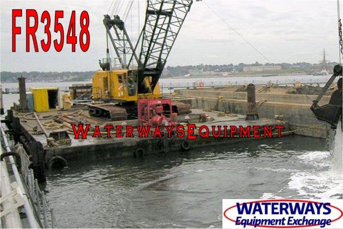 FR3548 - MANITOWOC 4100 CRANE & SPUD BARGE