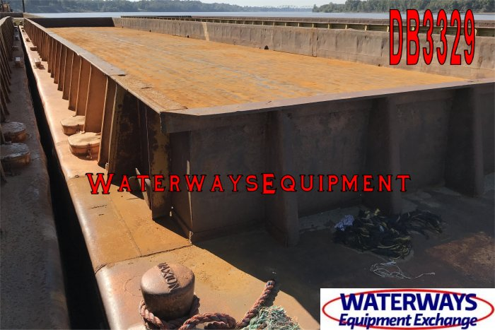 DB3329 - 195' x 35' x 9.5' MATERIAL DECK BARGE