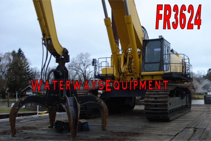 FR3624 - 112' x 50' SPUD BARGE W/ KOMATSU PC-1100LC-6 EXCAVATOR