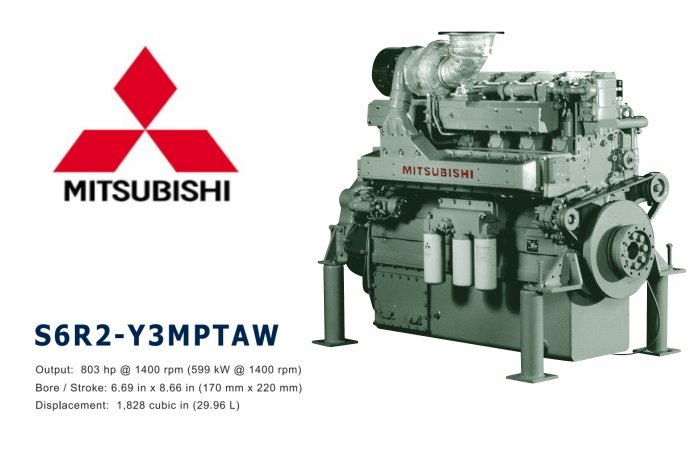 MITSUBISHI S6R2-Y3MPTAW MARINE ENGINE