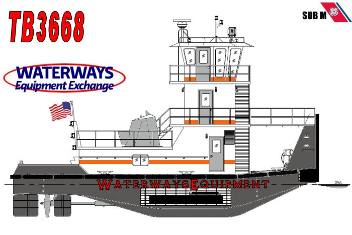 TB3668 - NEW 1320 HP TOWBOAT