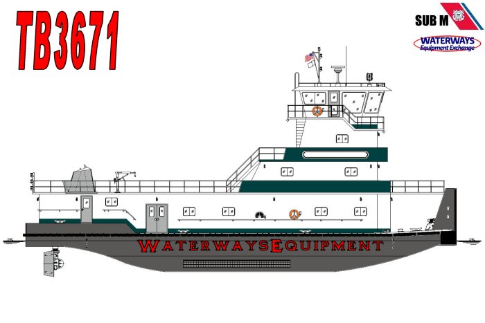 TB3671 - 3200 HP Z-DRIVE TOWBOAT