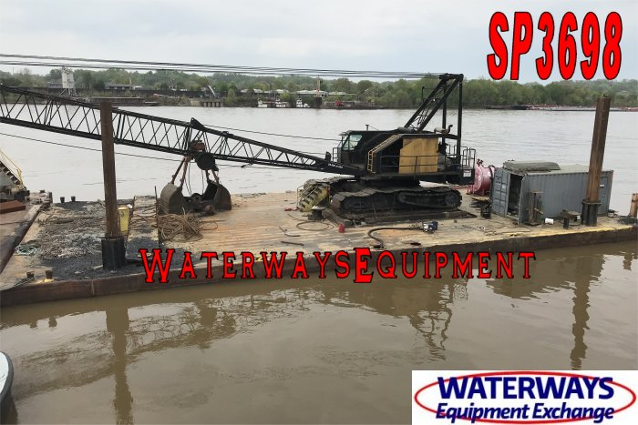 SP3698 - 100' x 45' x 6.5' SPUD BARGE FOR CHARTER