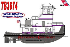TB3674 - NEW 1600 HP TOWBOAT