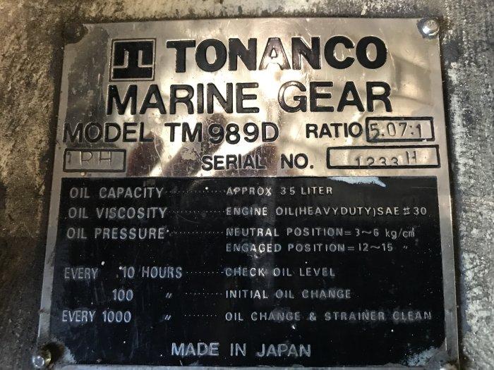 MG3707 - TONANCO TM989D MARINE GEARS