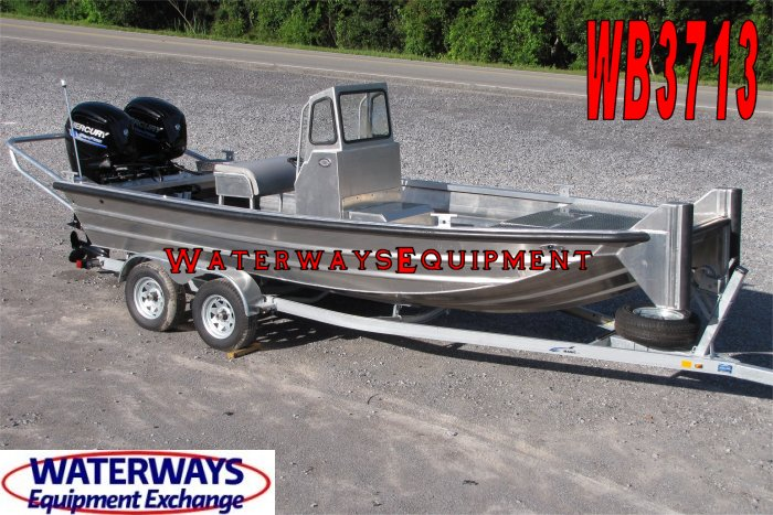 WB3713 - 20' x 6' ALUMINUM CENTER CONSOLE WORK BOAT