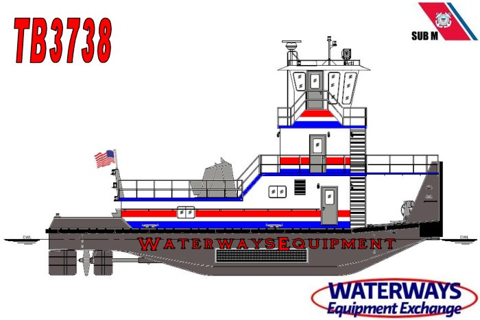 TB3738 - 1600 HP TOWBOAT
