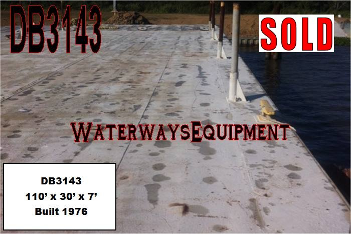 DB3143 – 110′ x 30′ x 7′ DECK BARGE - SOLD