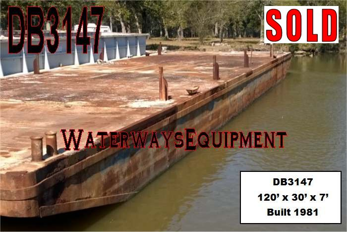DB3147 – 120′ x 30′ x 7′ DECK BARGE - SOLD
