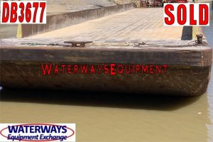 DB3677 – 195′ x 35′ x 9.5′ MATERIAL DECK BARGE