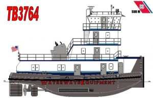 TB3764 - 1600 HP INLAND RIVER TOWBOAT