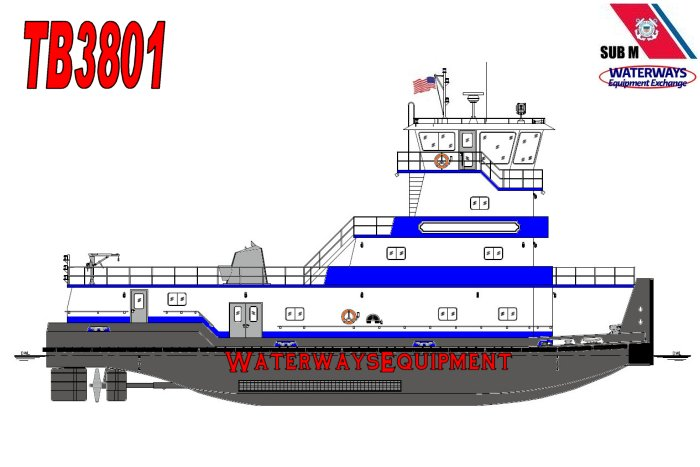TB3801 – 2400 HP TOWBOAT