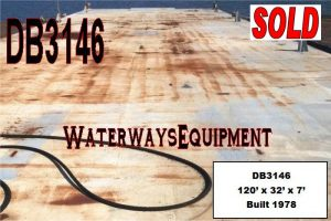DB3146 – 120′ x 32′ x 7′ DECK BARGE - SOLD
