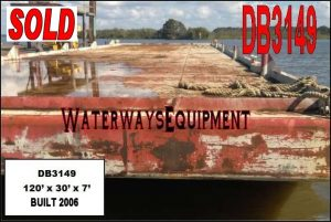 DB3149 – 120′ x 30′ x 7′ DECK BARGE - SOLD