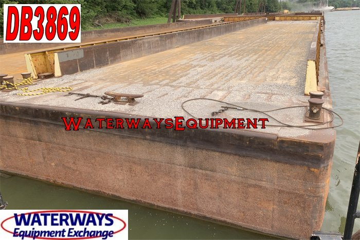 DB3869 - 195' x 35' x 9.5' MATERIAL DECK BARGE