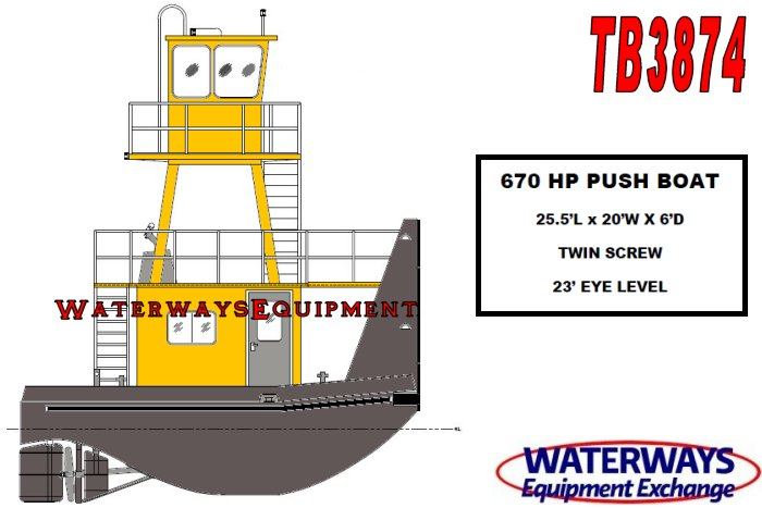 TB3874 - NEW 670 HP PUSH BOAT