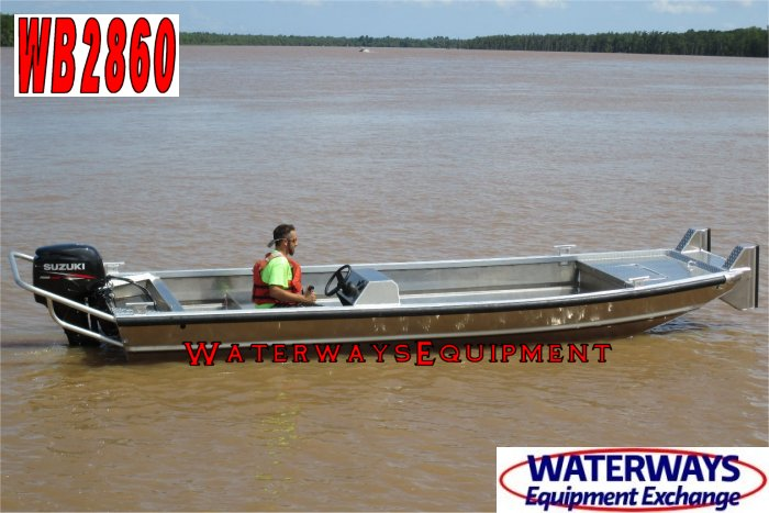 WB2860 – 20′ x 5′ ALUMINUM SIDE CONSOLE WORK BOAT